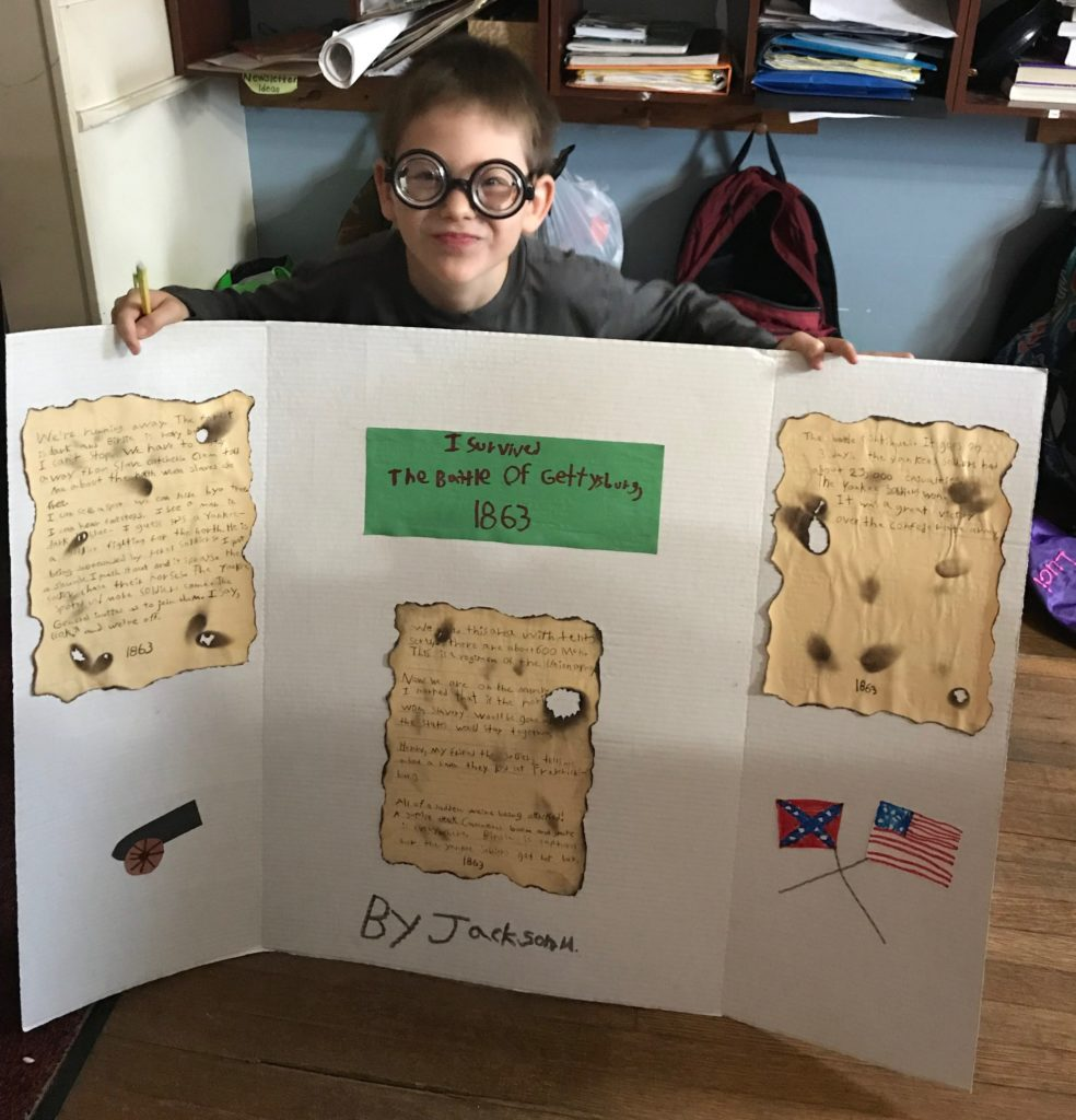A book report by Jackson about The Battle of Gettysburg