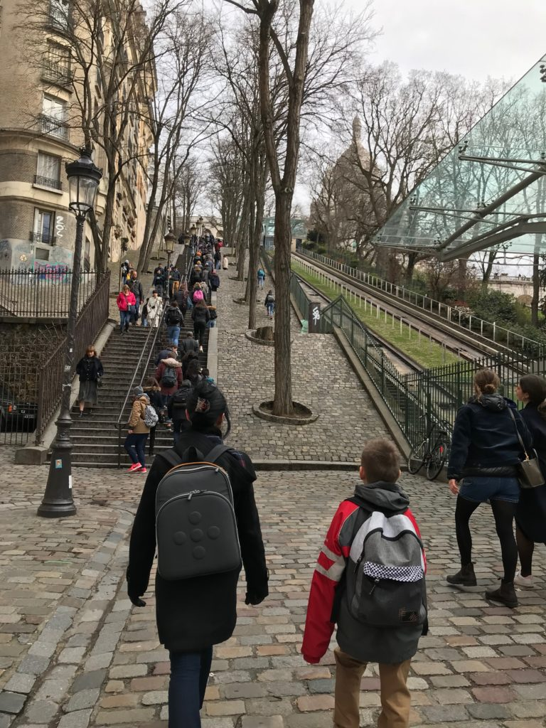 Walking to Sacré-Cœur in France